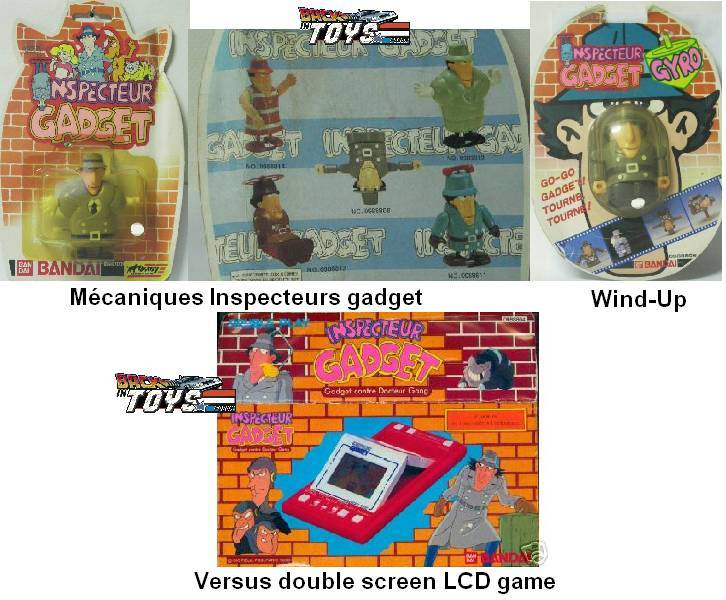 INSPECTOR GADGET / Inspecteur Gadget (Bandai, Galoob..) 1985 Cdgr