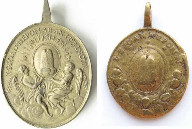 San Juan Nepomuceno / Reliquia Sagrada Lengua, S. XVIII Kw0g