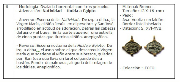 ICONOGRAFIA de la NATIVIDAD en las medallas devocionales Ficha6