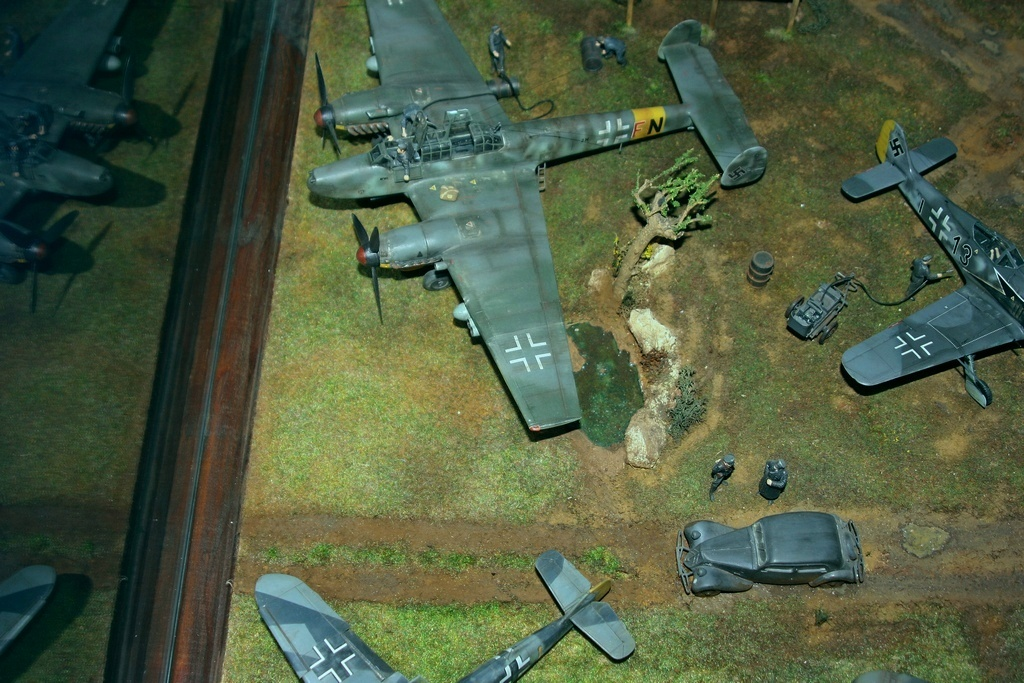 Diorama terrain aviation Luftwaffe 1/48 Boqo