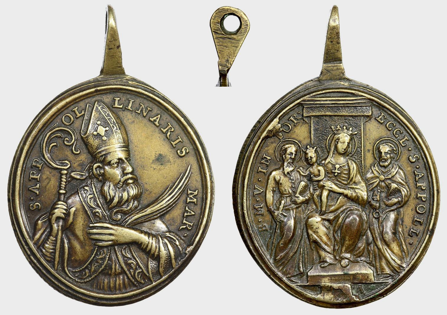 Medalla San Apolinar / Virgen Reina de los Apóstoles (R.M. SXVIII-O218) Wf3g