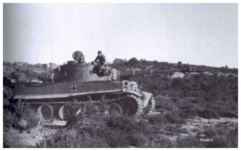 Tiger I du sPzAbt. 501 en Tunisie 1943 Tigerinr121spzabt501int