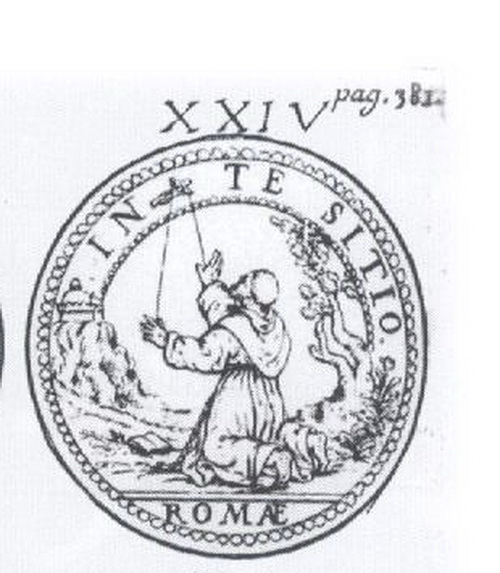 Medalla S. Francisco de Asís / Inmaculada S. XVII (R.M. Pe Francisco de Asis 8) Z8mw