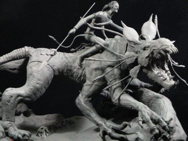 Diorama Jake Sully on Thanator by Taoplayclay 20543510150139953337076