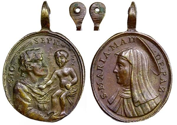 Médaille Sainte   Marie Madeleine de Pazzi - XVIIème C120djosemariamagdalena
