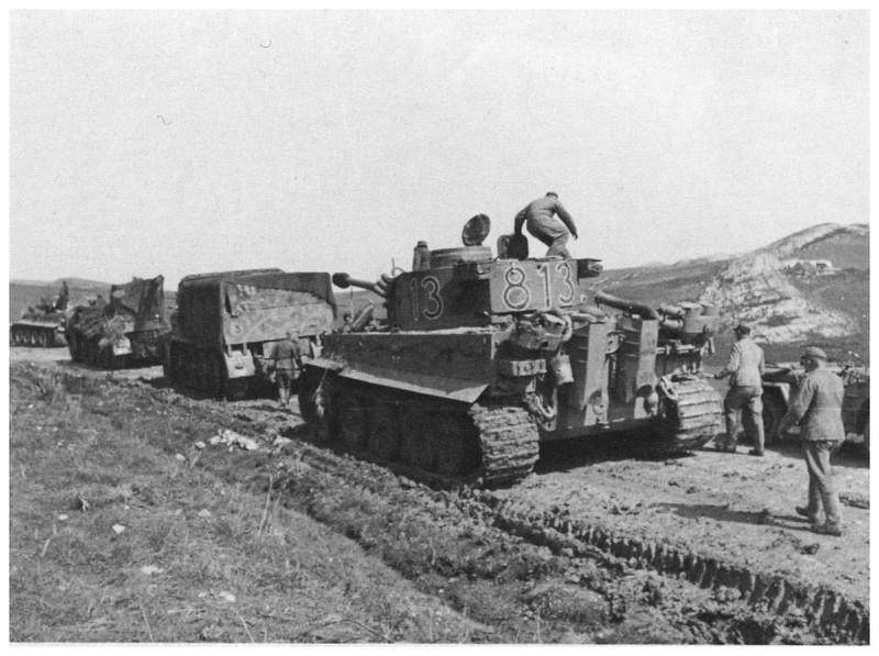 Tiger I du sPzAbt. 501 en Tunisie 1943 Tigerinr813spzabt501ind