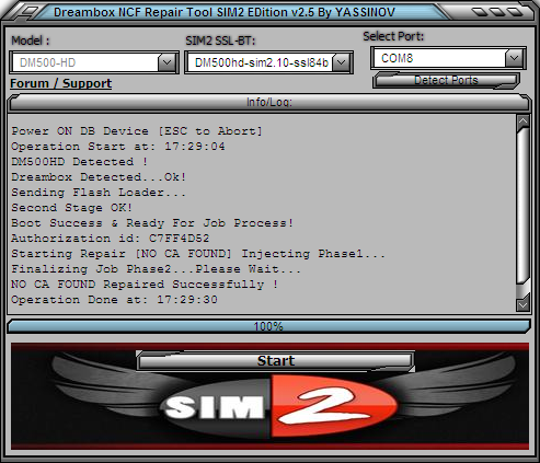 Dreambox NO CA FOUND Repair Tool NCF SIM2 v2.5 Ncf2