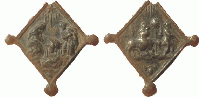 ICONOGRAFIA de la NATIVIDAD en las medallas devocionales Nativlosange