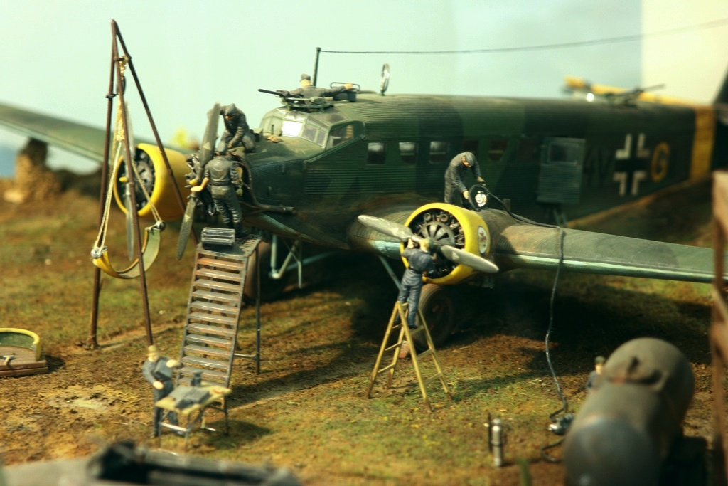 Diorama terrain aviation Luftwaffe 1/48 Xbsu