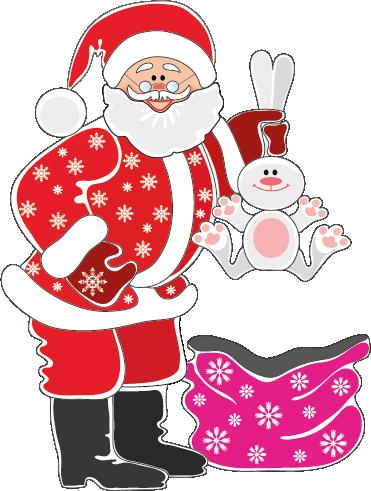 Papá Noel y Conejito Y05p