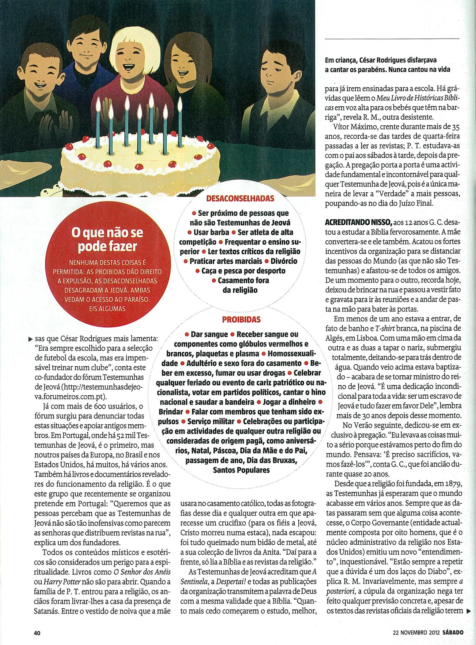 LINK ATUALIZADO - Revista Sábado digitalizada - artigo sobre as Testemunhas de Jeová Pag4m