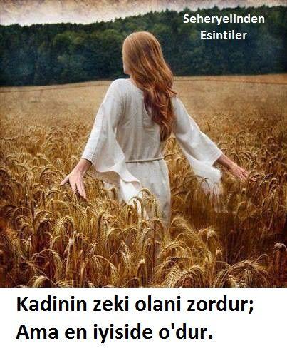 Kadinin zeki olani zordur; ama en iyiside o'dur. Abff