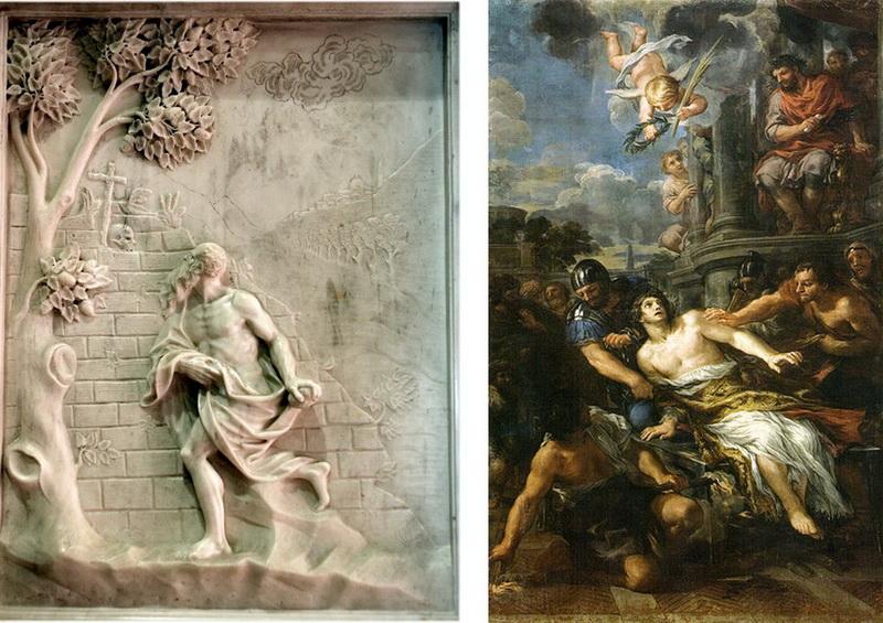 San Jerónimo de Estridón - Martirio de San Lorenzo. S. XVIII ( R.M. S.XVIII-O179) Bajorelievecortona
