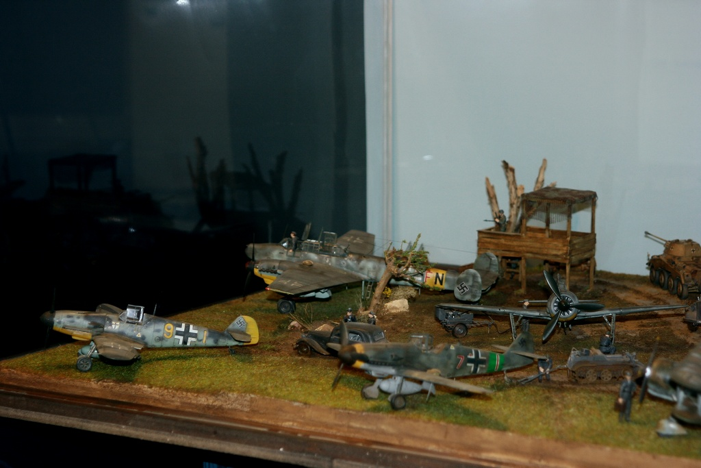 Diorama terrain aviation Luftwaffe 1/48 47uh