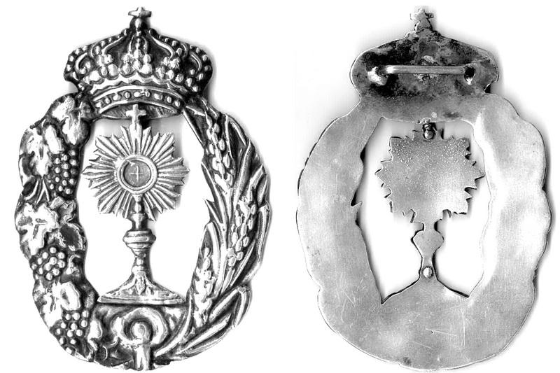 Medalla Cofradía del Santísimo Sacramento (R.M. PFV-Santísimo Sacramento 1) Ssfinal85x60307