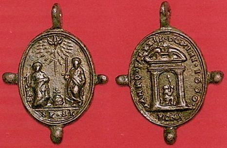 Medalla Madonna de Provenzano / Puerta Santa-Jubileo (R.M. Provenzano 2) 1600jubileopppedroypabl