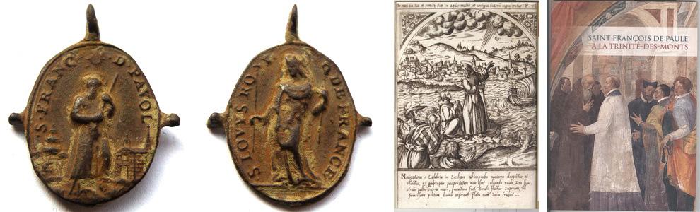 Medalla S Antonio Abad  / S Luis de Francia S. XVII (R.M. Pe Antonio Abad 2) Frnaciscopaulasanluis1