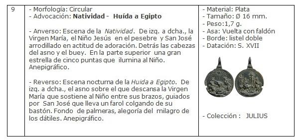ICONOGRAFIA de la NATIVIDAD en las medallas devocionales Ficha9