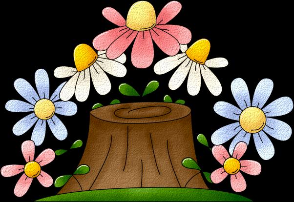 Imagenes Infantiles Tronco Con Flores