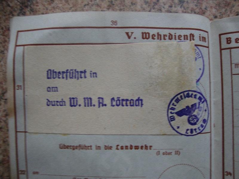 Traduction et identification d 'un Wehrpass et ses papiers Rm6t