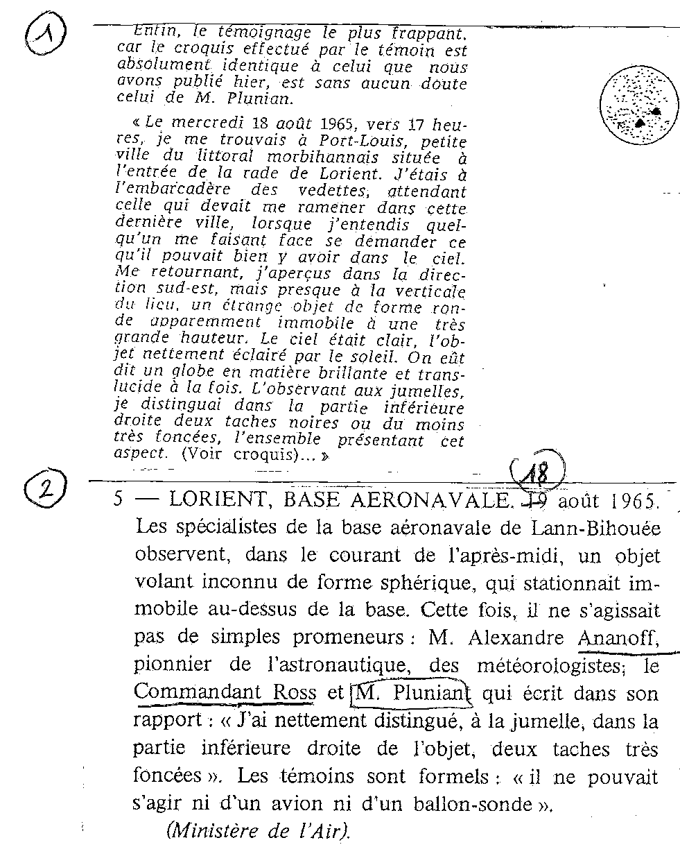 1967: lex /12 à  à la tombé de la nuit- Disques lumineux - Forêt de Pontcalleck (56)  - Page 2 19655