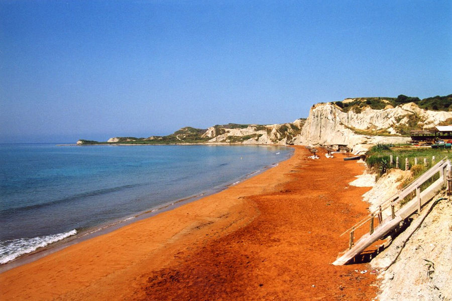 PLAYA DE XI BEACH : LA PLAYA NARANJA DE GRECIA VZMHY4