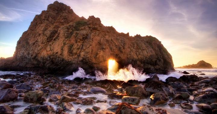 PFEIFFER BEACH , LA PLAYA COLOR PÚRPURA EN CALIFORNIA 45BzsI