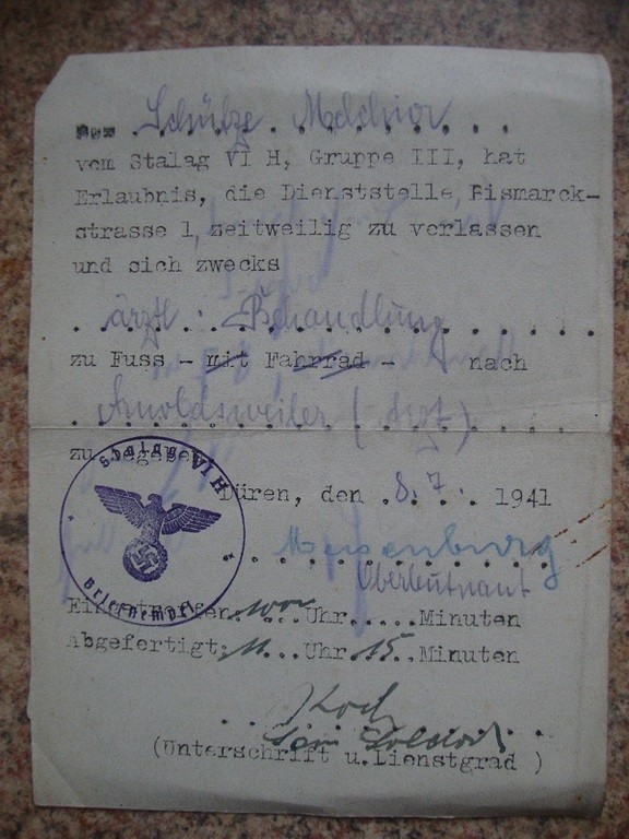 Papier Stalag allemand a traduire SVP HzkzhF