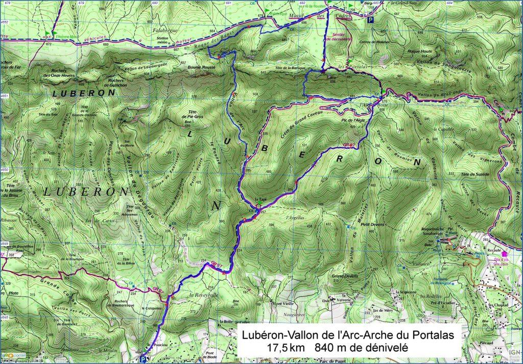 Lubéron-Vallon de l'Arc-Arche du Portalas-Jeudi 9 novembre 2017 V22oss