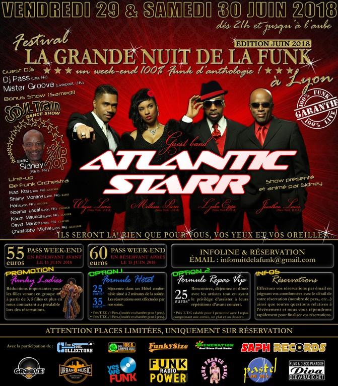 ATLANTIC STARR, SYDNEY & CO. à LA GRANDE NUIT DE LA FUNK à LYON   29-30 JUIN 2018   AeRDdx