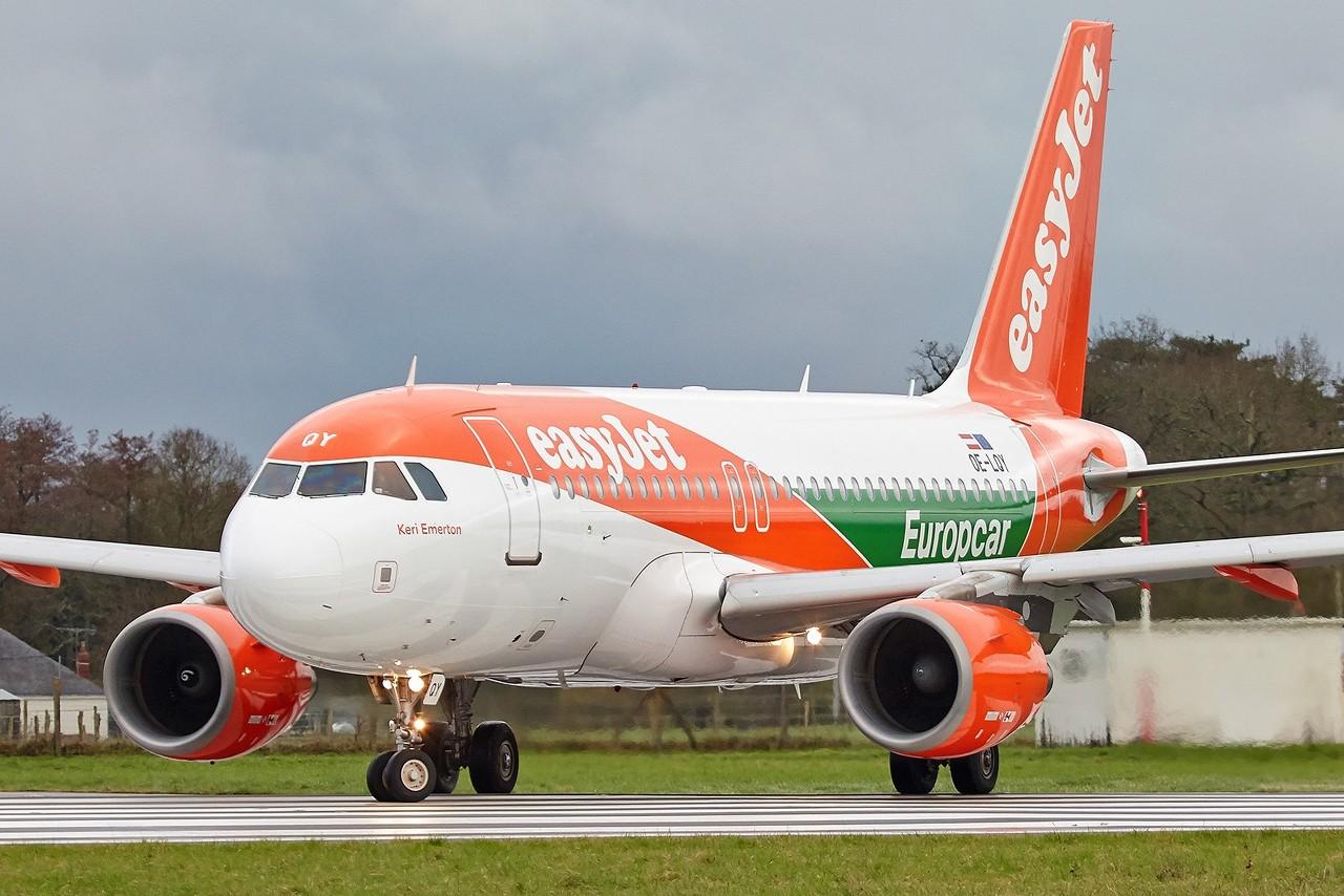 "[28/01/2018] Airbus A319 (OE-LQY) EasyJet Europe ""Europcar"" livery  GdtTqJ"