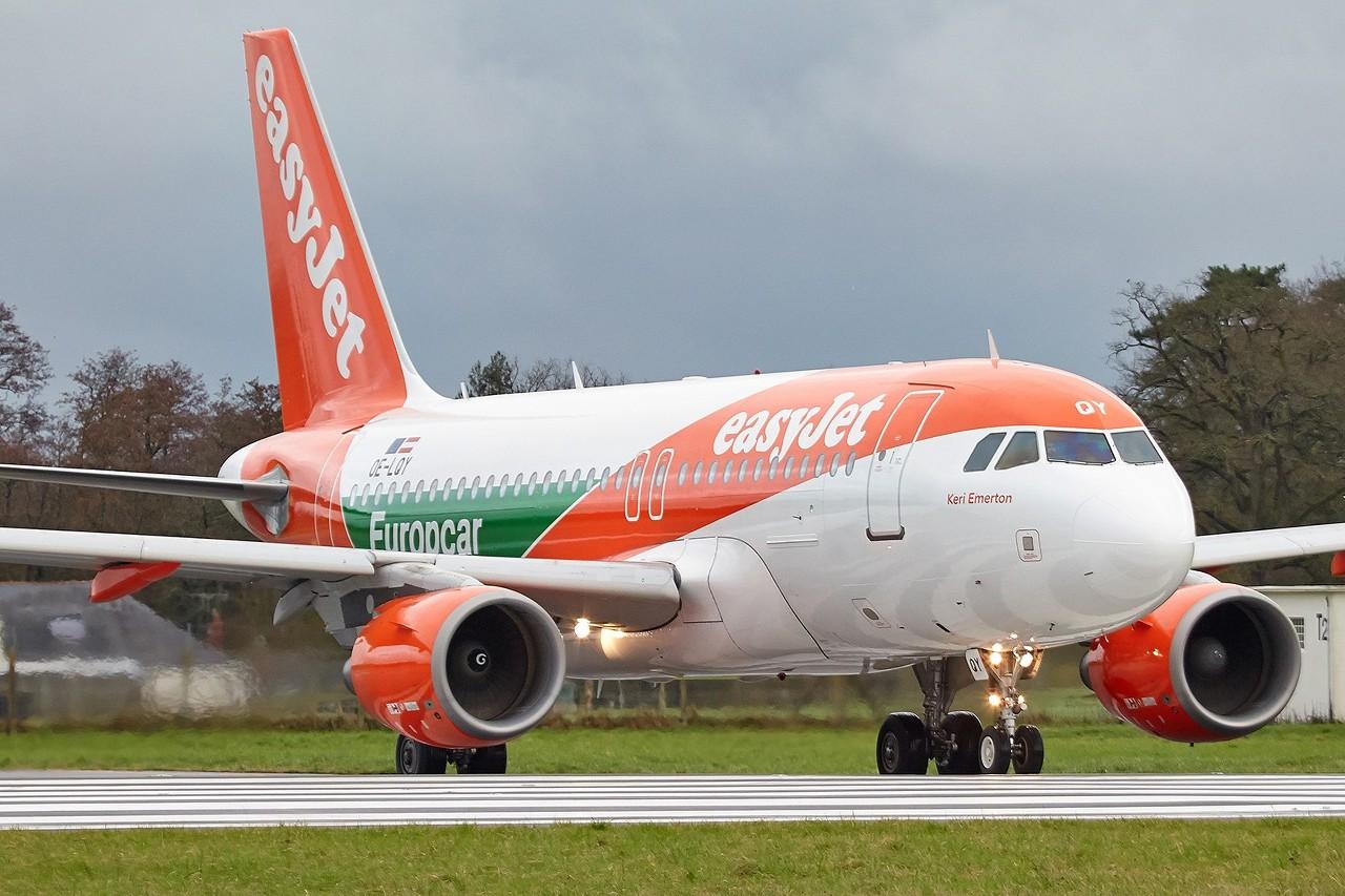 "[28/01/2018] Airbus A319 (OE-LQY) EasyJet Europe ""Europcar"" livery  DlyOJr"
