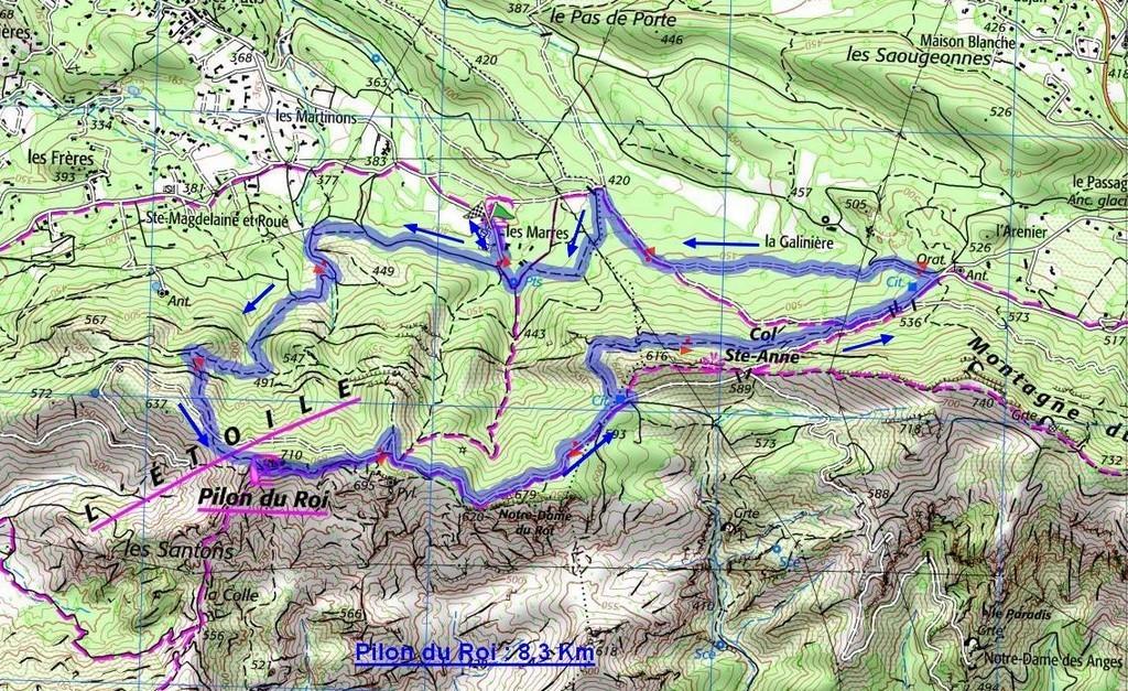 Simiane - Pilon du Roi -jeudi 18 janvier2018 VY5E5L