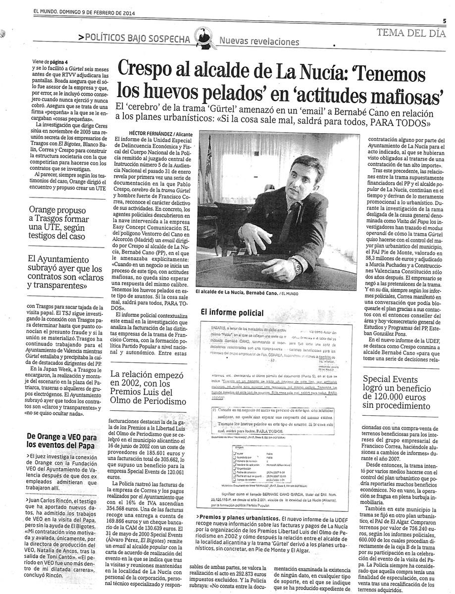 COMO SALIO EN EL MUNDO 9 FEBRERO 2014 Iogo