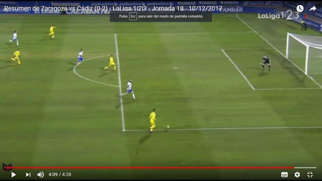 [J18] R. Zaragoza - Cádiz C.F. - Sábado 09/12/2017 20:30 h. OaSQgt