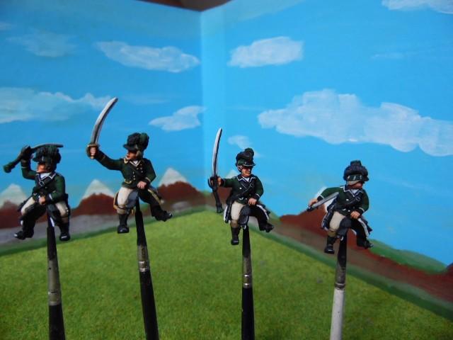 Cavaliers de la légion britannique: Guerre d'indépendance américaine D5X7e5