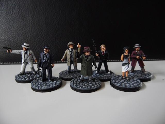 Prohibition : Gangsters, agents féderaux du tresor et citoyens. 28mm HsSwGe