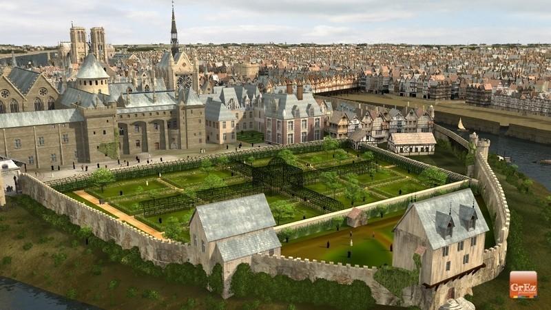 Reconstrucción 3D del París de 1550 1bej