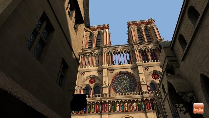 Reconstrucción 3D del París de 1550 5m3p