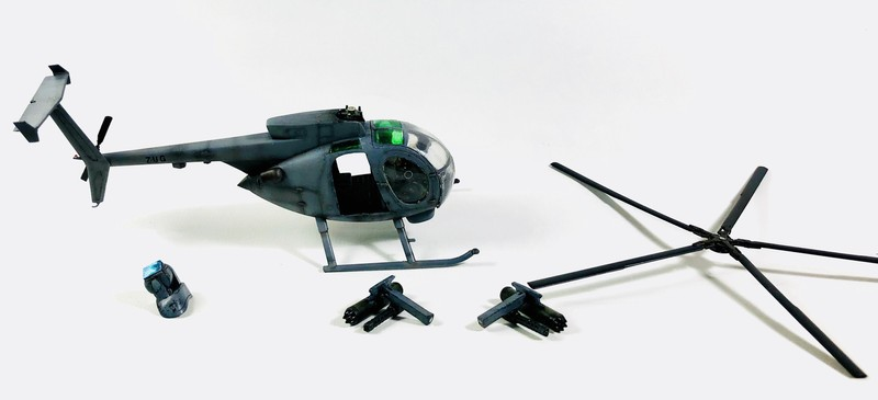 AH-6 ACADEMY 1/48 Double montage 8Terso