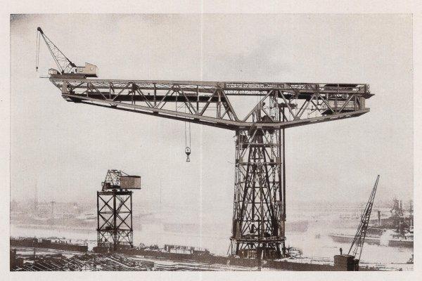 Grande grue 250 t port de Hambourg et Bismarck au 1/350 NELr3R