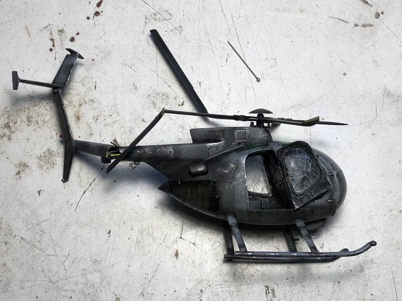 AH-6 ACADEMY 1/48 Double montage UzTeey