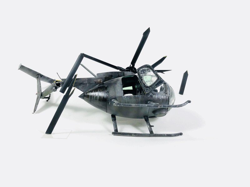 AH-6 ACADEMY 1/48 Double montage C4H3HY