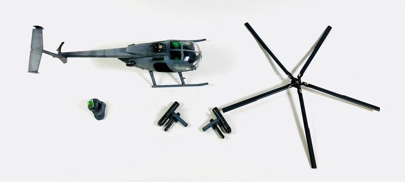 AH-6 ACADEMY 1/48 Double montage PAxVKC