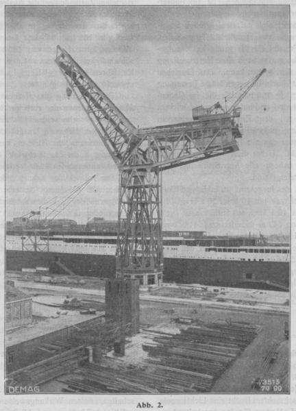 Grande grue 250 t port de Hambourg et Bismarck au 1/350 UL0Bbk