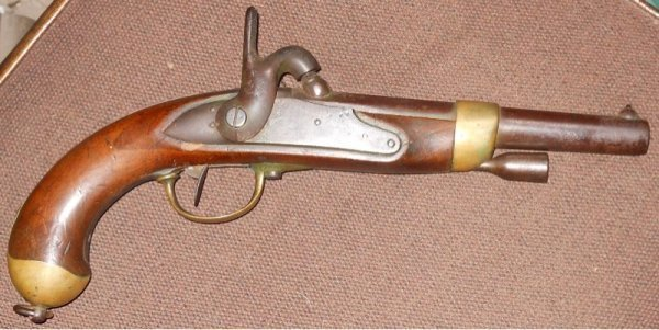 New-fangled percussion long rifle converted to old-fangled Flintlock TCyQoN
