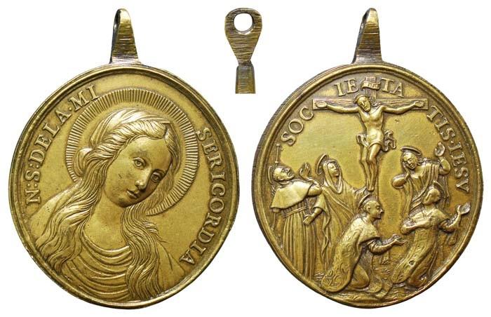 Nuestra Señora de la Misericordia / Crucifixión y santos jesuitas - MR(410)(R.M. SXVIII-O244) CtA4Nc