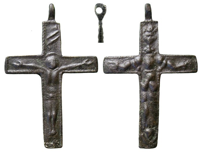 Crucifijo barroco bifaz, Inmaculada- S-XVIII - MR(023), CC-023 Oc1n8h
