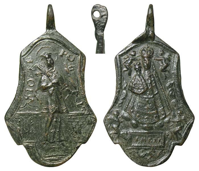 Medalla S. Juan Nepomuceno / N. S. de Mariazell - MR(450) (R.M. SXVIII-Ot12)(MAM) 29SveF