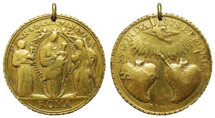 N. S. del Rosario de Chiquinquirá / Sagrados Corazones de Jesús y Maria - MR(405) (RM.SXVIII-C87)  MEwmBR
